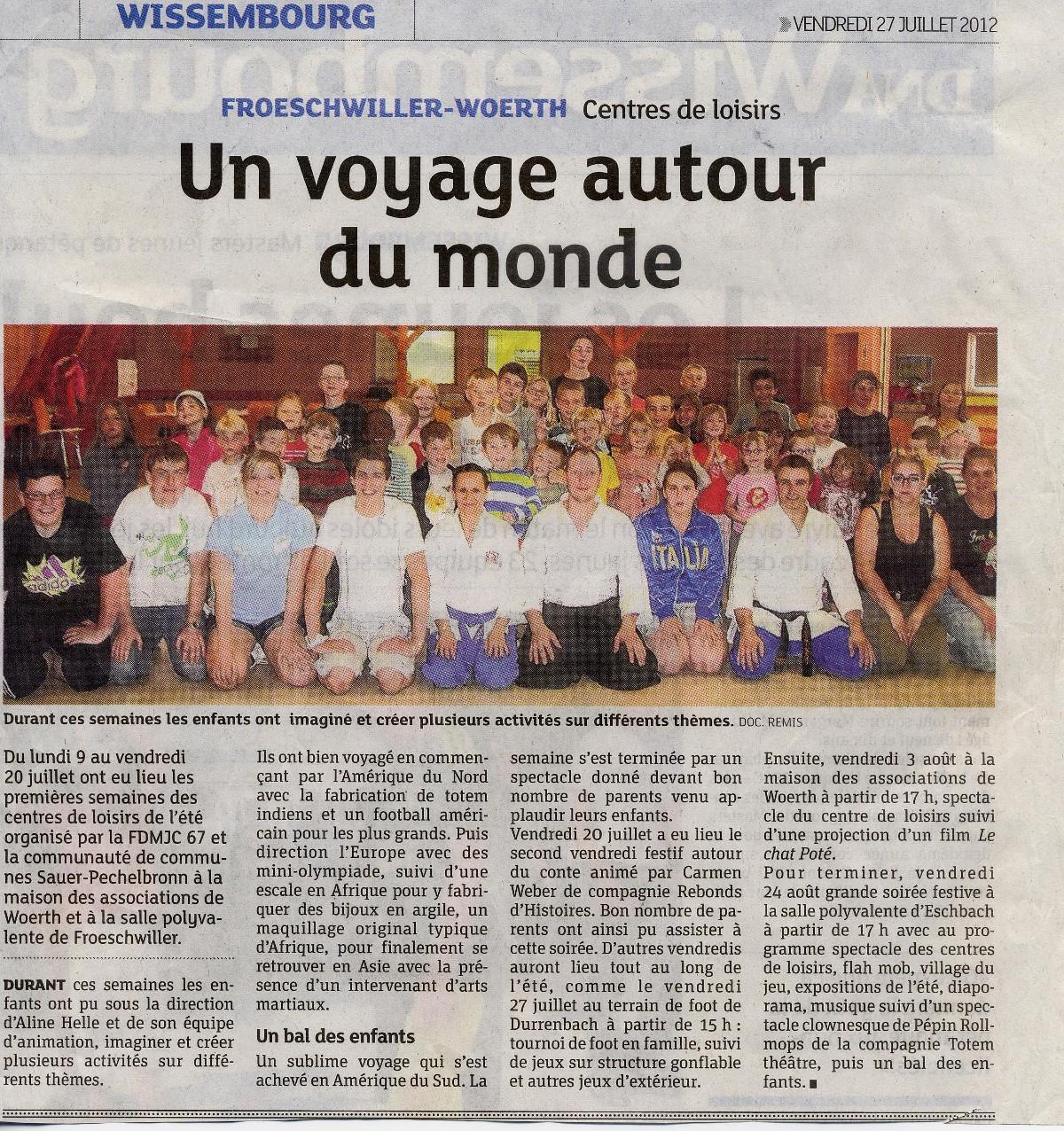 Article DNA Voyage autour du monde 27-07-12